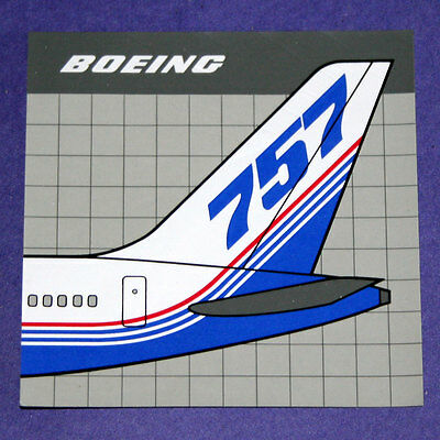 1989 Official Boeing 757 Tail Sticker