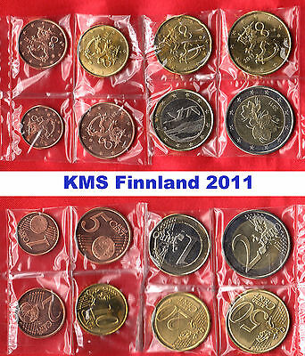 KMS Finnland 2011  -  1 Cent - 2 Euro  -lose-