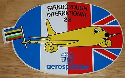 1988 Farnborough Airshow Airbus A300 Aerospatiale Sticker