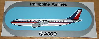 Original Philippine Airlines Airbus A300 Airline Sticker SEE NOTE