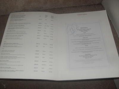 Manchester United Executive Suite Menu Card Signed for Aston Villa game 1/2/11