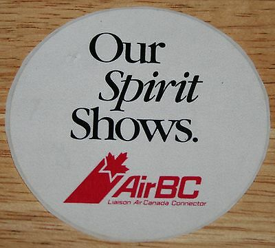 "Old Air BC (Canada) ""Our Spirit Shows"" Airline Sticker"