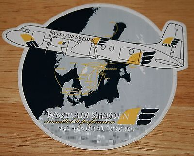West Air Sweden HS-748 Airline Sticker