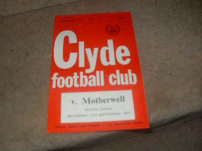 Clyde v Motherwell 11/9/71