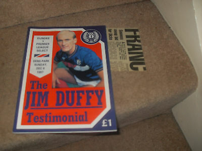 Dundee v Premier League Select 6/12/87 Jim Duffy Testimonial + match report