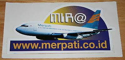 Old Merpati Airlines (Indonesia) Boeing 737-200 Sticker