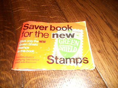 green shield stamp book and stamps