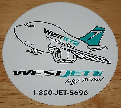 Old Westjet (Canada) Boeing 737 Airline Sticker