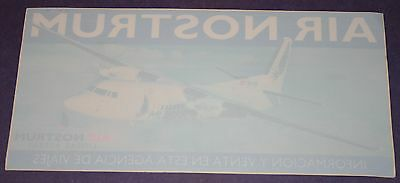 Large Air Nostrum (Spain) Fokker 50 Airline Window Sticker