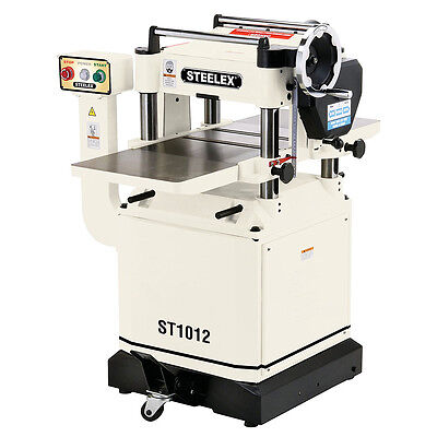 Steelex ST1012 15-Inch Planer with Helical Cutterhead, Mobile Base and Wings