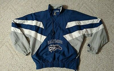 Baltimore CFL Stallions Colts Pullover Jacket Size Large Starter Brand Free Ship