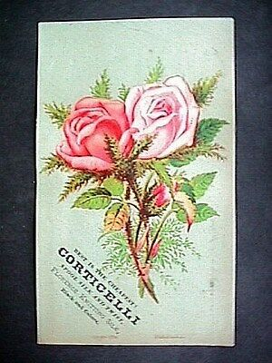 Corticelli Thread Collectible Victorian Trade Card Advertising