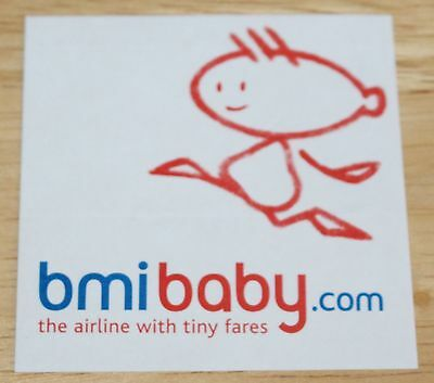 Old bmibaby (UK) Airline Sticker