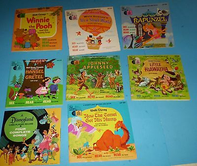 8-Disneyland Records And Books And One Long Playing Record,  (L@@k)