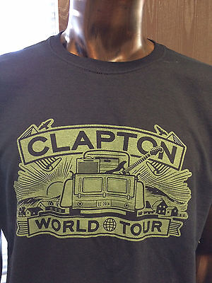 Eric Clapton 2014 Tour Black T-Shirt Pick Up Truck Size Xl