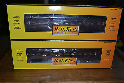 2 Mth Rail King Canadian Pacific Fluted 2 Car Passenger Set 30-6732 Coaches