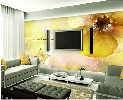 * Modern Simple Style Flower Pattern Background Living Room Bedroom WallPaper