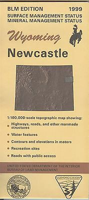 USGS BLM edition topographic map Wyoming NEWCASTLE 1999 mineral