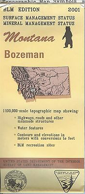 USGS BLM edition topographic map Montana BOZEMAN 2001 mineral