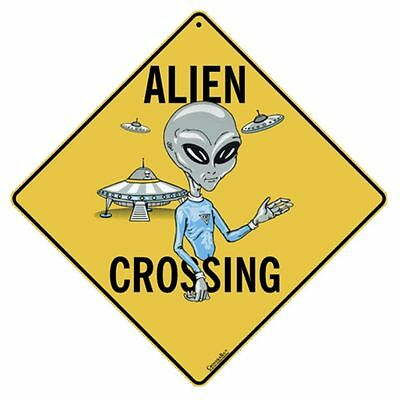 Alien Crossing Sign NEW 12X12 Metal UFO