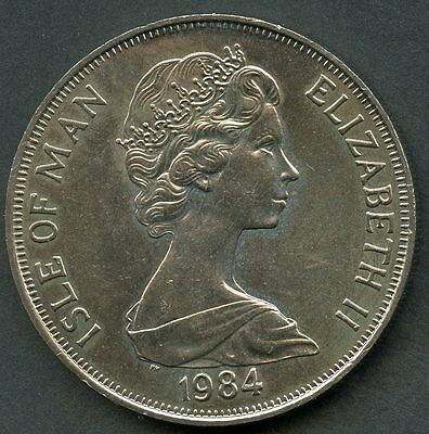 ISLE OF MAN 1984 30th PARLIAMENTARY CONFERENCE ONE CROWN COPPER NICKEL COIN