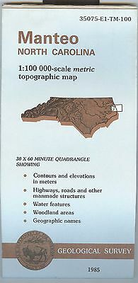 US Geological Survey topographic map metric North Carolina MANTEO 1985