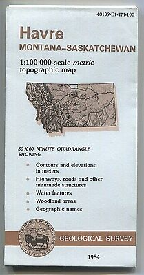US Geological Survey topographic map metric HAVRE Montana 1984