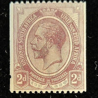 South Africa, 1921, SC 20, 2p George V coil stamp, horizontal perfs, MNH