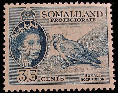 Br. Somaliland Protectorate, 1953, SC133, 35c blue rock pigeon, MLH