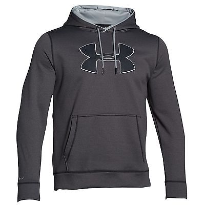 Men's Under Armour Fleece Big Logo Hoodie, 2XL, Gray Hoody, New with Tags