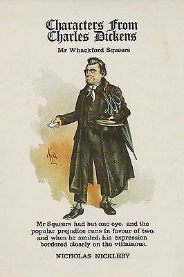 Whackford Squeers No16 Characters From Dickens unused mint postcard