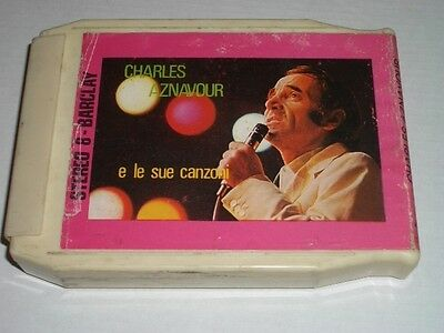 Charles Aznavour -Stereo8- Barclay Italian Press -French Pop Chanson Mytho