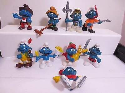 Good lot of 9 no flaw smurf  have a look