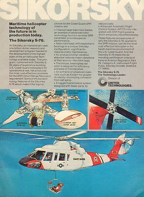 1970s vintage helicopter Ad SIKORSKY S-76 Coast Guard 052216