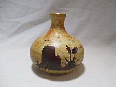 Desert Scenery Pottery Signed by Thora