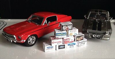 1/43 scale diorama garage Branded Boxes #SET 2