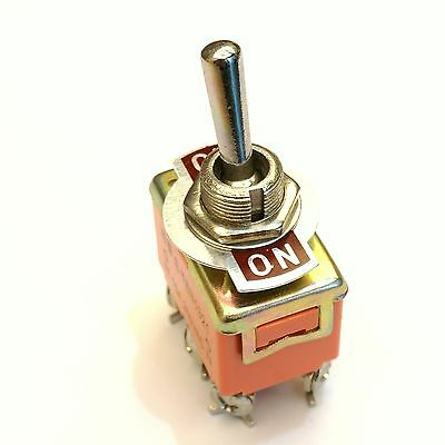 New ON-ON DPDT 6 Screw Pin Rocker Type Toggle Switch AC 250V 15A E-TEN1321