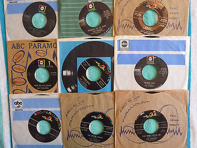 Lot of 9 RAY CHARLES 45 rpm Singles Georgia On My Mind/I Can't Stop Loving You