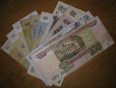 Lot,10 Russia Banknotes,1961-1997, VG to Unc