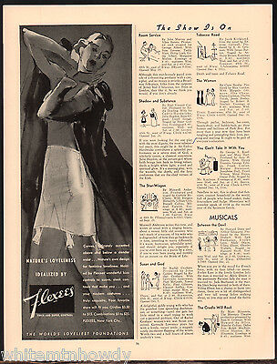 1938 FLEXES GIRDLE Pin Up Art AD Ladies Women's Lingerie Underwear Advertising