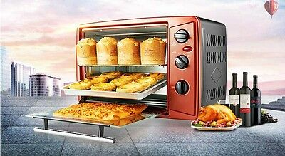 30L Home Commercial Brown Multi-function Baking Tool Benchtop Electric Oven #