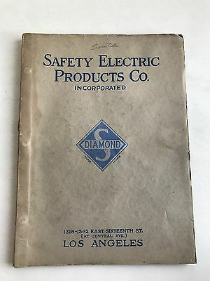 Vintage Diamond Safety Electric Elevator Catalog Los Angeles California