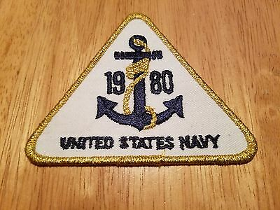 ORIGINAL COLD WAR VINTAGE 1980 U.S. NAVY ANCHOR PATCH, New