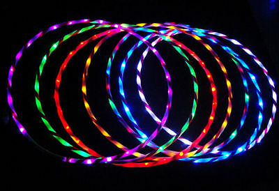 Details about@60- 90CM/ light flash LED plus Hula hula hoop fitness increased。
