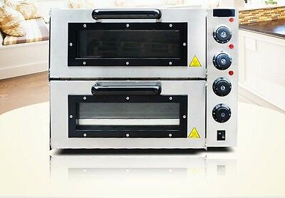 Silver Commercial Double-deck Multi-function Baking Tool Benchtop Electric Oven