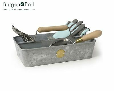 Burgon and Ball Sophie Conran Galvanised Steel Trug Gardener Tool Holder Gift