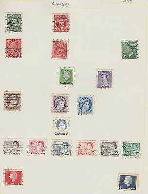 CANADA  Assorted Stamps on Old Book Pages (removed to send) #