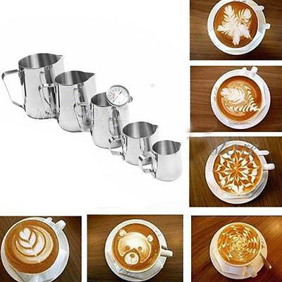 350-1000ML Stainless Steel Coffee Cappuccino Milk Frothing Latte Art Jug w Scale