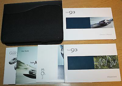 Genuine Saab 9-3 Owners Manual Handbook Wallet 2002-2007 Pack 7323 !