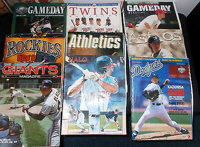 Baseball  Official Magazines - 9 ( some with team rosters )